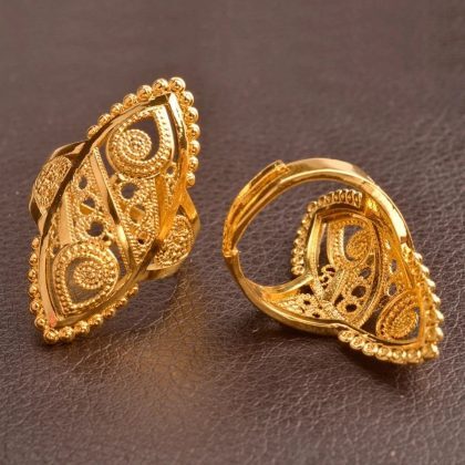 Gold Plated Anniversary Finger Ring RP-50